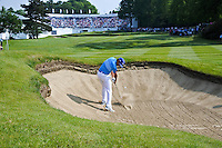 Rafa Cabrera Bello (ESP) on the 18th during round 3 of the 2016 BMW PGA Championship. Wentworth Golf Club, Virginia Water, Surrey, UK. 28/05/2016.<br /> Picture Fran Caffrey / Golffile.ie<br /> <br /> All photo usage must carry mandatory copyright credit (© Golffile   Fran Caffrey)