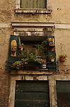 Italian building with small balcony