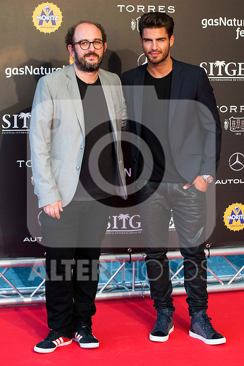 Borja Cobeaga and Maxi Iglesias during the red carpet of the opening ceremony of the Festival de Cine Fantastico de Sitges in Barcelona. October 07, Spain. 2016. (ALTERPHOTOS/BorjaB.Hojas)