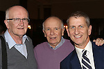 John Doyle, Terrence McNally and Tom Kirdahy from 'The Visit' attend a photo call at The Lyceum Theater on March 24, 2015 in New York City.