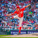 24 May 2015: Washington Nationals pitcher Drew Storen on the mound to close out the game against the Philadelphia Phillies at Nationals Park in Washington, DC. The Nationals defeated the Phillies 4-1 to take the rubber game of their 3-game weekend series. Mandatory Credit: Ed Wolfstein Photo *** RAW (NEF) Image File Available ***