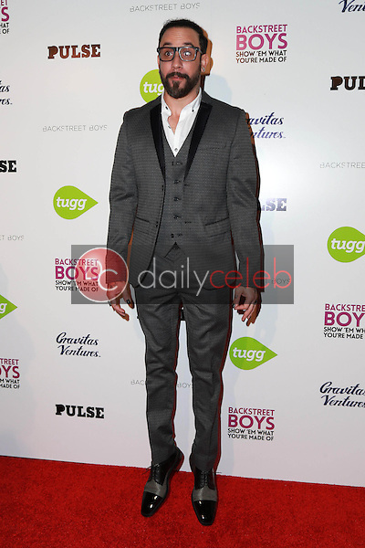 """A.J. McLean<br /> at the Backstreet Boys """"Show 'Em What You're Made Of"""" Premiere, Arclight, Hollywood, CA 01-29-15<br /> David Edwards/DailyCeleb.com 818-249-4998"""