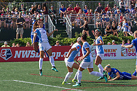 Allston, MA - Saturday August 19, 2017: Alex Morgan during a regular season National Women's Soccer League (NWSL) match between the Boston Breakers and the Orlando Pride at Jordan Field.