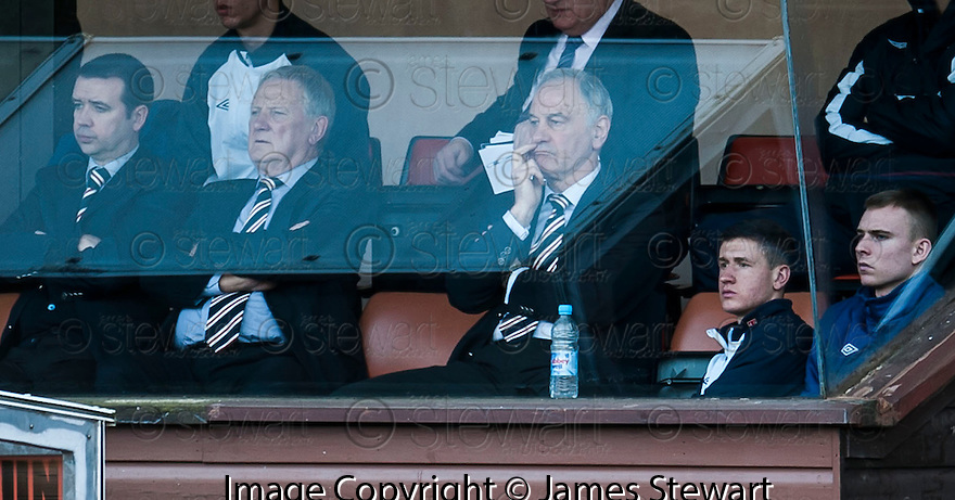 Charles Green watches the game from a corporate box.
