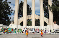Dancers from India in Parque Mexico, Condesa Mexico City.