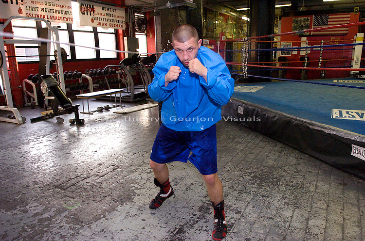 Brooklyn, New York, Oct. 10, 2007: Pawel Wolak trains at Gleason's Gym for an upcoming fight in Poland.