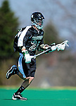 3 April 2010: Binghamton University Bearcats' Midfielder Chris Welch, a Senior from Skaneateles, NY, in action against the University of Vermont Catamounts at Moulton Winder Field in Burlington, Vermont. The Catamounts defeated the visiting Bearcats 11-8 in Vermont's opening home game of the 2010 season. Mandatory Credit: Ed Wolfstein Photo