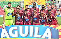 IBAGUÉ-COLOMBIA , 10 -11-2018 . Formación del Deportes Tolima ante Patriotas Boyacá durante partido por la fecha 19 de la Liga Águila II 2018 jugado en el estadio Manuel Murillo Toro de la ciudad de Ibagué./ Team of Deportes Tolima agaisnt Patriotas Boyaca during the match for the date 19 of the Aguila League II 2018 played at Manuel Murillo Toro  stadium in Ibague city. Photo: VizzorImage/ Juan Carlos Escobar / Contribuidor