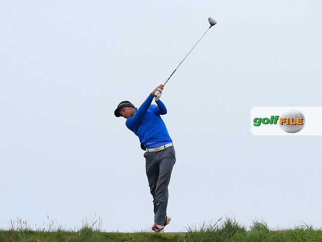 Marco Iten (Switzerland) on the 14th tee during Round 3 of the Irish Amateur Open Championship at Royal Dublin on Saturday 9th May 2015.<br /> Picture:  Thos Caffrey / www.golffile.ie