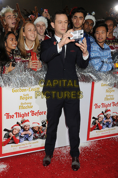 18 November 2015 - Los Angeles, California - Joseph Gordon-Levitt. &quot;The Night Before&quot; Los Angeles Premiere held at The Ace Hotel. <br /> CAP/ADM/BP<br /> &copy;BP/ADM/Capital Pictures