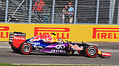 Daniil Kvyat (Russia) car number 26 for the Infiniti Red Bull formula 1 team at practice session 3 for the Grand Prix of  Canada race 7 of the Formula 1 championship