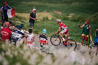 Daniel Navarro (ESP/Cofidis) up the last climb of the 2018 Tour: the Col d'Aubisque (HC/1709m/16.6km@4.9%)<br /> <br /> Stage 19: Lourdes &gt; Laruns (200km)<br /> <br /> 105th Tour de France 2018<br /> &copy;kramon