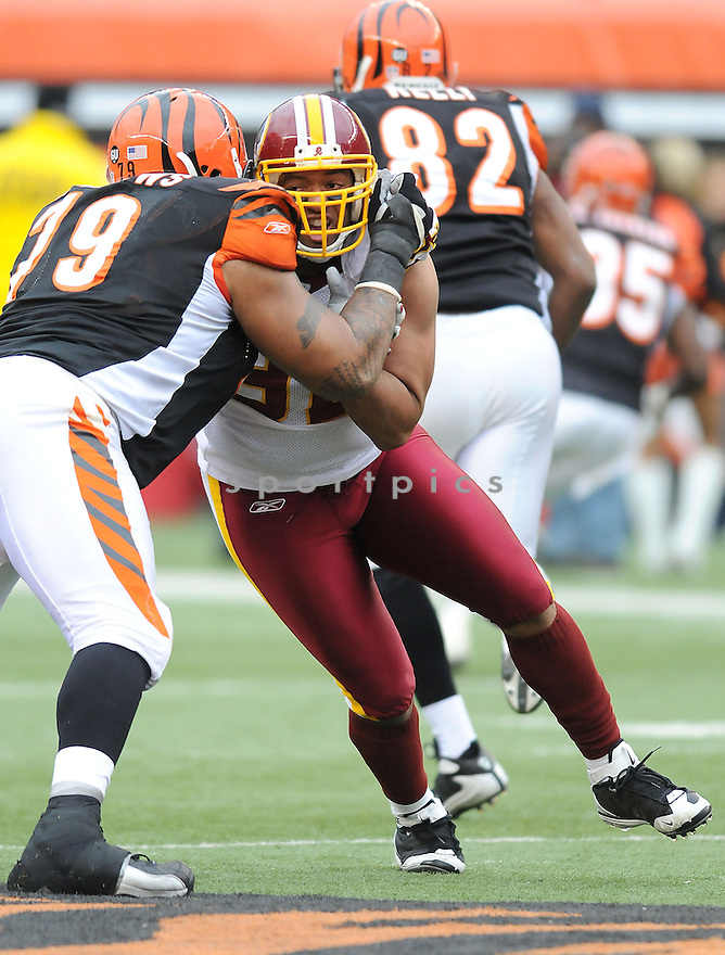 DEMETRIC EVANS, of the Washington Redskins , in action  during the Redskins game against the  Cincinnati Bengals  on December 14, 2008 in Cincinnati, OH...Bengals win 20-13