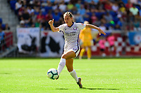 HARRISON, NJ - SEPTEMBER 29: Marisa Viggiano #23 of the Orlando Pride during a game between Orlando Pride and Sky Blue FC at Red Bull Arena on September 29, 2019 in Harrison, New Jersey.