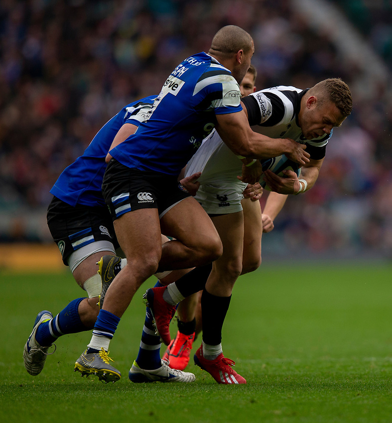 Bristol Bears' Ian Madigan in action during todays match<br /> <br /> Photographer Bob Bradford/CameraSport<br /> <br /> Gallagher Premiership - Bath Rugby v Bristol Bears - Saturday 6th April 2019 - The Recreation Ground - Bath<br /> <br /> World Copyright © 2019 CameraSport. All rights reserved. 43 Linden Ave. Countesthorpe. Leicester. England. LE8 5PG - Tel: +44 (0) 116 277 4147 - admin@camerasport.com - www.camerasport.com