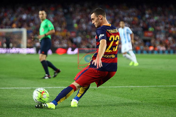 League BBVA 2015/2016. Game: 2.<br /> FC Barcelona vs Malaga CF: 1-0.<br /> Vermaelen.