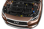 Car Stock 2016 Infiniti Q30 Premium 5 Door Hatchback Engine  high angle detail view