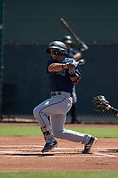Seattle Mariners outfielder Jorge Solano (93) follows through on his swing during an Extended Spring Training game against the San Francisco Giants Orange at the San Francisco Giants Training Complex on May 28, 2018 in Scottsdale, Arizona. (Zachary Lucy/Four Seam Images)