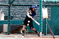 18 September 2012: France Maxime Lefevre hits the ball during Team France practice, at the 2012 World Baseball Classic Qualifier round, in Jupiter, Florida, USA.