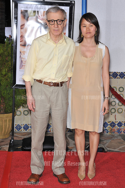"Woody Allen & wife Soon-Yi at the Los Angeles premiere of his new movie ""Vicky Cristina Barcelona"" at the Mann Village Theatre, Westwood..August 4, 2008  Los Angeles, CA.Picture: Paul Smith / Featureflash"