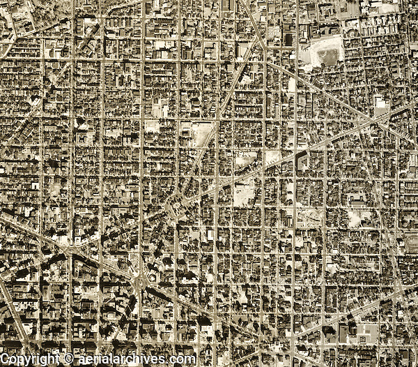 historical aerial photograph of Washington, DC, 1968