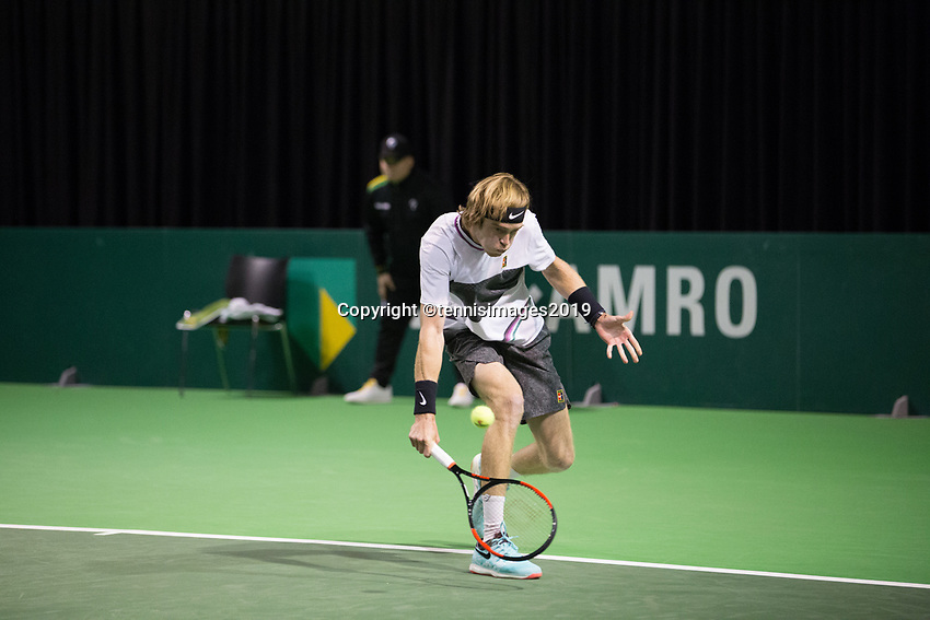 Rotterdam, Netherlands, 9 februari, 2019, Ahoy, Tennis, ABNAMROWTT, ANDREY RUBLEV (RUS)<br /> Photo: Henk Koster/tennisimages.com