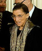 Washington, D.C. - February 1, 2006 -- Justice Ruth Bader Ginsburg attends the ceremony where Judge Samuel A. Alito is sworn-in as Associate Justice of the United States Supreme Court in Washington, D.C. on February 1, 2006 during a ceremony in the East Room of the White House hosted by United States President George W. Bush..Credit: Ron Sachs / CNP