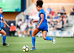 Gomes, Nadia _BLU5670<br /> Nadia Gomes drives the ball downfield. The game between BYU and Ohio State ended in a scoreless draw in double overtime at South Field Monday, August 21 <br /> <br /> <br /> August 21, 2017<br /> <br /> Photography by Gabriel Mayberry /BYU<br /> <br /> © BYU PHOTO 2017<br /> All Rights Reserved<br /> photo@byu.edu  (801)422-7322