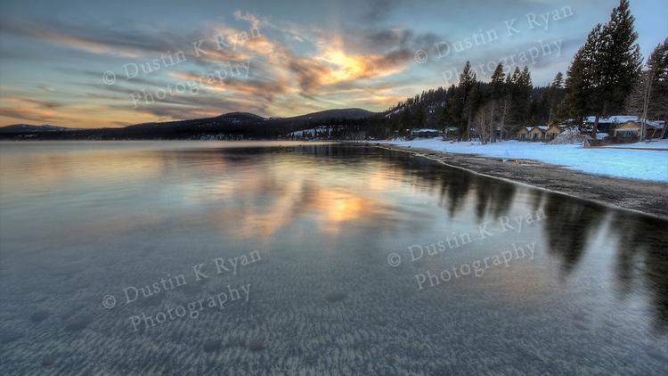 Spring Sunset on Lake Tahoe 2011