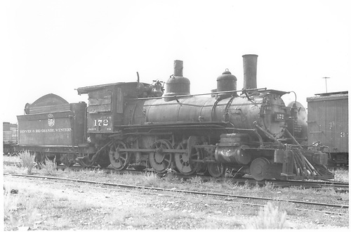 Engine #172 stored in yard.<br /> D&amp;RGW