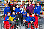 Staff and pupils at Killocrim National School opened their new library on Friday morning. Pictured were: Niamh O'Sullivan, Gabriel Fitzmaurice (Author and Poet), Marie Corridan (retired teacher), Catherine O'Driscoll (Principal), with school librarians Shannon Collins, Gavin Joy, Aideen Duffy, Millie Sheehan, Shauna White, Kane Dillon Kristupas Mikulskis and Denis Pantea.