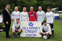 Mackey's Crew over 35 taking part in the Killarney Athletic - Credit Union 7-a-side soccer tournament this week.<br /> Picture by MacMonagle, Killarney