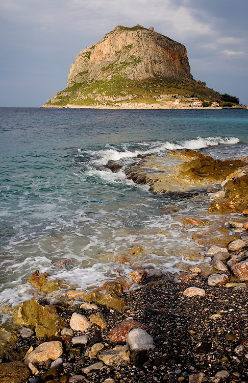 """The island fortress of Monemvasia is often referred to as the """"Gibraltar of Greece"""".  It's also known as one of the most romantic towns in Greece, a living museum of Byzantine, Turkish, and Venetian history dating back to the 13th century..The town was founded in the 6th century AD by refugees fleeing Slavic raids into the Peloponnese.  It was never captured in battle."""
