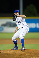Burlington Royals relief pitcher Alex Close (30) in action against the Princeton Rays at Burlington Athletic Stadium on August 12, 2016 in Burlington, North Carolina.  The Royals defeated the Rays 9-5.  (Brian Westerholt/Four Seam Images)
