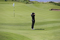 Thomas Detry (BEL) chips onto the 6th green during Thursday's Round 1 of the Dubai Duty Free Irish Open 2019, held at Lahinch Golf Club, Lahinch, Ireland. 4th July 2019.<br /> Picture: Eoin Clarke | Golffile<br /> <br /> <br /> All photos usage must carry mandatory copyright credit (© Golffile | Eoin Clarke)