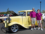 Jim and Jeanne Ohl with their 1931 Ford Model A hot rod pick up during the Hot August Nights Pre-Kickoff show and shine held at the Bonanza Casino in Reno, Nevada on Sunday, August 4, 2013.  The truck was an original Washoe County service vehicle and then a service vehicle for Jim's father Roy's sheet metal shop.
