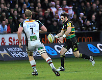 Northampton, England. Ben Foden of Northampton Saints in action during the Aviva Premiership match between Northampton Saints and Harlequins at Franklin's Gardens on December 22. 2012 in Northampton, England.