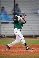 Dartmouth Big Green second baseman Sean Sullivan (4) at bat during a game against the Southern Maine Huskies on March 23, 2017 at Lake Myrtle Park in Auburndale, Florida.  Dartmouth defeated Southern Maine 9-1.  (Mike Janes/Four Seam Images)