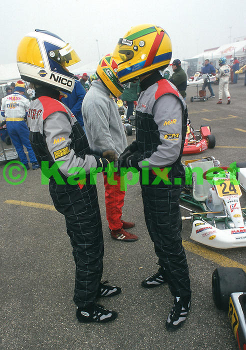 Lewis Hamilton and Nico Rosberg Karting