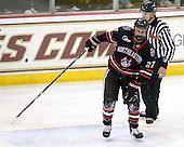 Alex Tuckerman (NU - 27) - The Boston College Eagles defeated the Northeastern University Huskies 5-1 on Saturday, November 7, 2009, at Conte Forum in Chestnut Hill, Massachusetts.
