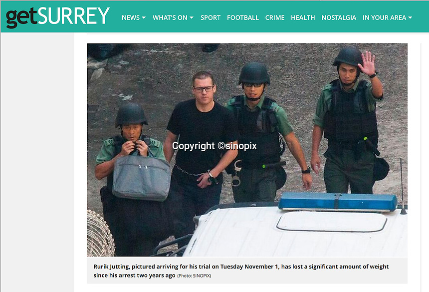 getSURREY 08 Nov,2016<br /> British banker Rurik Jutting found guilty of murdering two Indonesian women in Hong Kong on 8th Nov, 2016