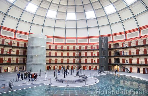 Nederland  Breda 2016. De Koepel, ook wel bekend als De Boschpoort gevangenis werd in 1886 opgeleverd. In 2017 krijgt de Koepel een nieuwe bestemming in de vorm van FutureDome. In de week van Serious Request, is de Koepel als gevangenis van binnen te zien. Er worden rondleidingen gegeven en je kunt het  Escape De Koepel spel doen; een Pop-up Escape Room. Foto Berlinda van Dam / Hollandse Hoogte