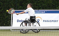 Queens Club, GREAT BRITAIN,   Andrew LAPTHORNE, goes through his paces with his coach, before the  press Conference to announce the joint initiative between British Paralympic Association and Deloitte  of 'www.Parasport.org.uk' online information service, on Thur's.  03.05.2007. London. [Credit: Peter Spurrier/Intersport Images]