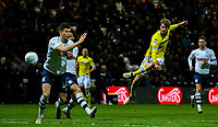 Leeds United's Patrick Bamford scores the opening goal <br /> <br /> Photographer Alex Dodd/CameraSport<br /> <br /> The EFL Sky Bet Championship - Preston North End v Leeds United -Tuesday 9th April 2019 - Deepdale Stadium - Preston<br /> <br /> World Copyright &copy; 2019 CameraSport. All rights reserved. 43 Linden Ave. Countesthorpe. Leicester. England. LE8 5PG - Tel: +44 (0) 116 277 4147 - admin@camerasport.com - www.camerasport.com