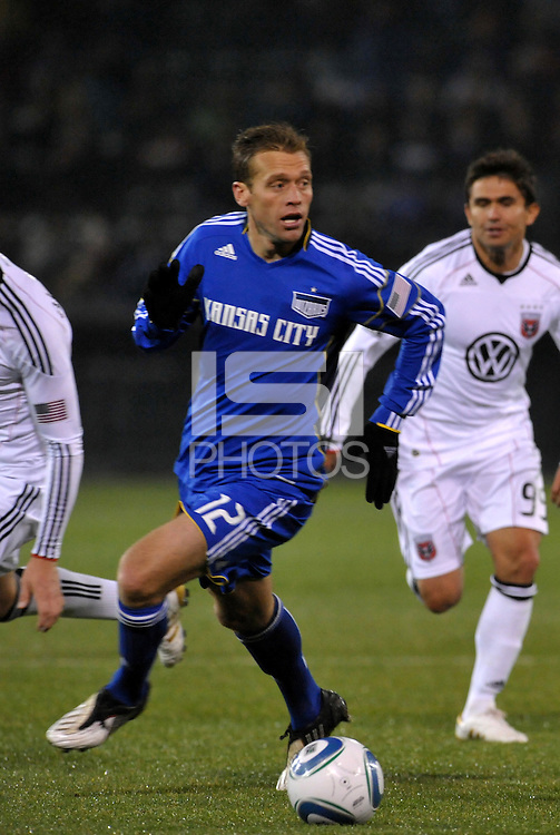 Jimmy Conrad...Kansas City Wizards defeated D.C Utd 4-0 in their home opener at Community America Ballpark, Kansas City, Kansas.