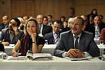 "DJERBA - TUNISIA - 13 March 2012 -- European Training Foundation (ETF) / Tunisian Ministry of Vocational Training and Employment (MFPE) Project Launch -  ""Human Capital for Regional Socio-Economic Development (Medenine, Tunisia)"". --  (L) Marie Dorleans, ETF Tunisia, (R) Abdelwahab MATAR, Minister of Vocational Training and Employment. -- PHOTO: Lindsay MACKENZIE / EUP-IMAGES."