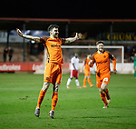 17.04.18 Brechin City v Dundee utd:<br /> Scott Fraser celebrates his goal
