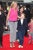 Storm Uechtritz and Ali Keating arriving for the Postman Pat Premiere, Odeon West End, London. 11/05/2014 Picture by: Alexandra Glen / Featureflash