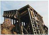 RGS's 2-pocket coal chute at Ute Junction.<br /> RGS  Ute Junction, CO  Taken by Dorman, Richard L. - 1977