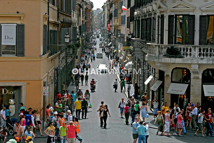 Via Condotti em Roma. Itália. 2006. Foto de Luciana Whitaker.
